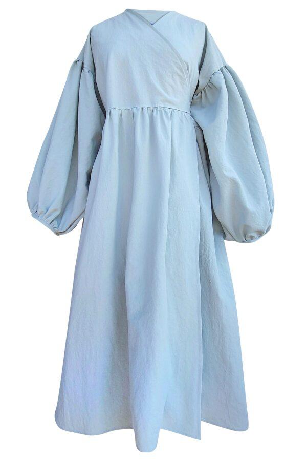ALYSSA – DUSTY BLUE DRESS
