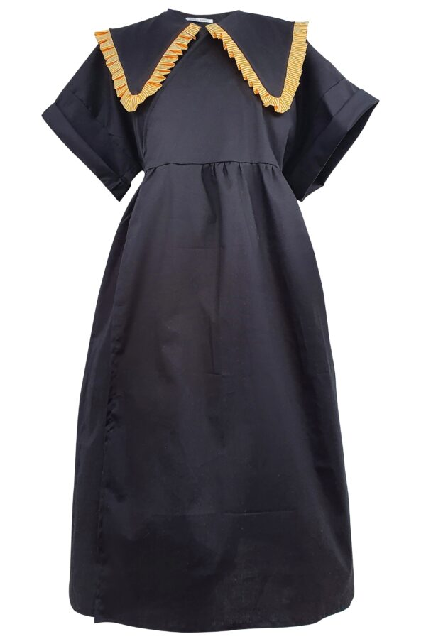 MOLLY – ORANGE COLLAR DRESS